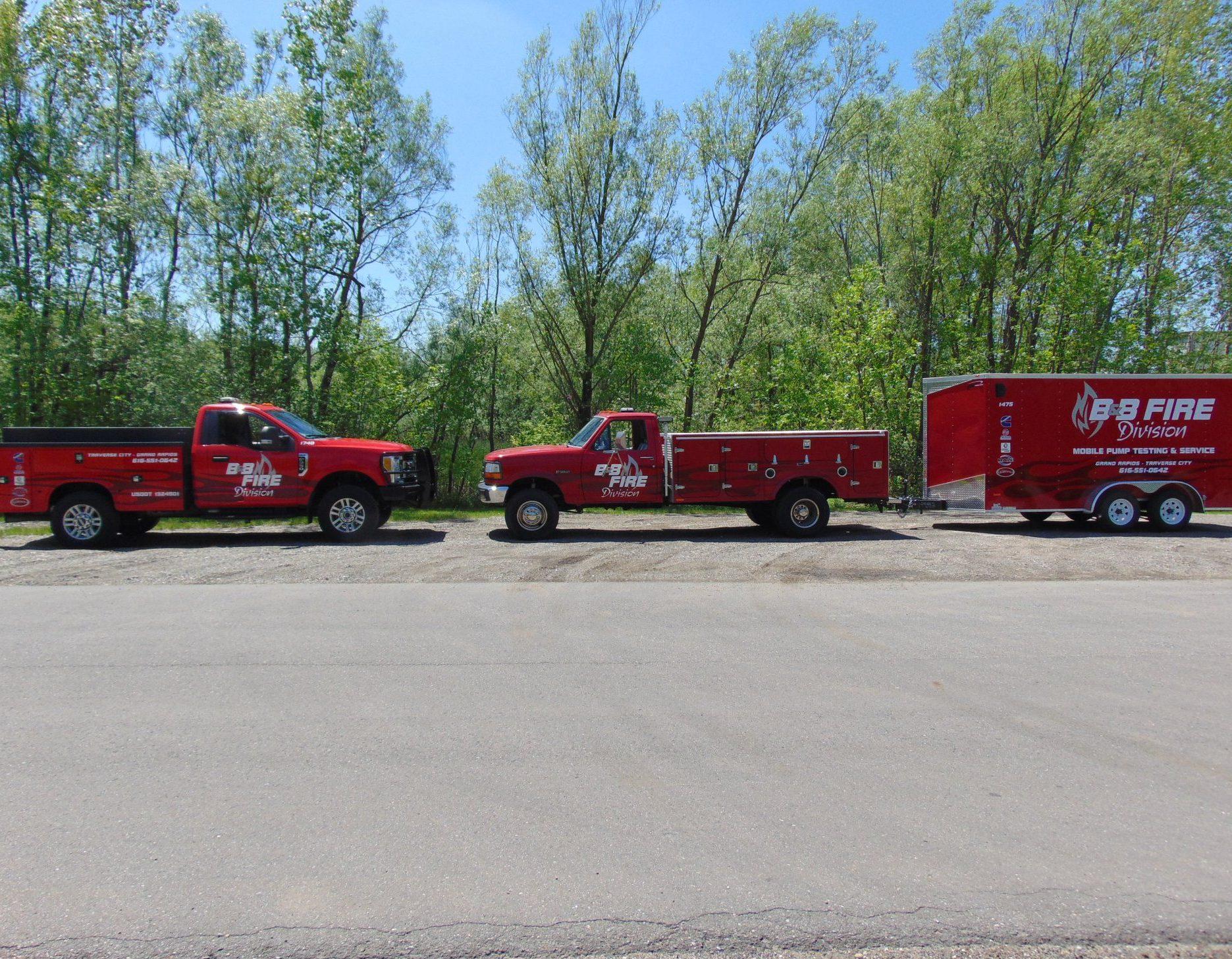 Mobile service b&b fire